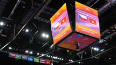 KAUNAS, LITHUANIA - SEPTEMBER 19: A general view inside the arena prior to the FIFA Futsal World Cup 2021 group D match between Czech Republic and Vietnam at Kaunas Arena on September 19, 2021 in Kaunas, Lithuania. (Photo by Angel Martinez - FIFA/FIFA via Getty Images)