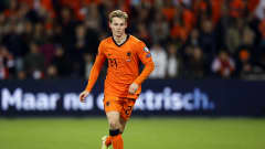 Frenkie de Jong of Holland during the World Cup qualifier match between the Netherlands and Gibraltar at Feyenoord Stadium de Kuip on October 11, 2021 in Rotterdam, Netherlands. ANP MAURICE VAN STEEN (Photo by ANP Sport via Getty Images)