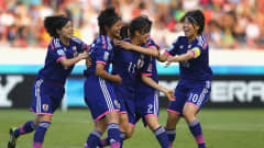 SAN JOSE, COSTA RICA - APRIL 04:  Meika Nishida #11 of Japan celebrate with her tem mats after scoring the opening goal during the FIFA U-17 Women's World Cup 2014 final match between Japan and Spain at Estadio Nacional on April 4, 2014 in San Jose, Costa Rica.  (Photo by Martin Rose - FIFA/FIFA via Getty Images)