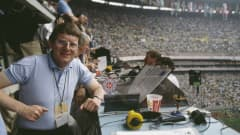 There is no school like the old school. Some broadcast equipment, a clipboard, a cup of Coca-Cola and a Pique-the-mascot lucky charm, that is all BBC TV football commentator John Motson needed to cover the Opening Match at the Estadio Azteca in Mexico City on 31 May 1986.