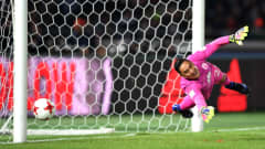 YOKOHAMA, JAPAN - DECEMBER 18:  Moises Munoz of Club America attempts to save a penalty during the FIFA Club World Cup 3rd Place match between Club America and Atletico Nacional at International Stadium Yokohama on December 18, 2016 in Yokohama, Japan.  (Photo by Shaun Botterill - FIFA/FIFA via Getty Images)