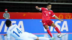 KAUNAS, LITHUANIA - SEPTEMBER 18: Yanar Asadov of RFU scores his teams second goal of the match during the FIFA Futsal World Cup 2021 group B match between Guatemala and Football Union Of Russia at Kaunas Arena on September 18, 2021 in Kaunas, Lithuania. (Photo by Angel Martinez - FIFA/FIFA via Getty Images)