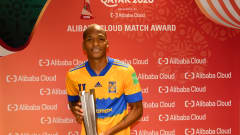 DOHA, QATAR - FEBRUARY 07: Luis Quinones of Tigres UANL poses after being named Player of the Match during the FIFA Club World Cup Qatar 2002 Semi-Final match between Palmeiras and Tigres UANL at the Education City Stadium on February 07, 2021 in Doha, Qatar. FIFA are allowing a limited number of spectators (12,000) to be in attendance as Covid-19 pandemic restrictions are eased. (Photo by David Ramos - FIFA/FIFA via Getty Images)