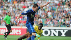 BURSA, TURKEY - JULY 10:  Florian Thauvin of France scores his goal during the FIFA U-20 World Cup Semi-Final match between France and Ghana at the Ataturk Stadium on July 10, 2013 in Bursa, Turkey.  (Photo by Jamie McDonald - FIFA/FIFA via Getty Images)