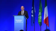 MILAN, ITALY - SEPTEMBER 22: Gianni Infantino, President of FIFA speaks during the FIFA Football Conference - Analysis on the 2019 FIFA Women's World Cup at Palazzo Del Ghiaccio on September 22, 2019 in Milan, Italy. (Photo by Tullio Puglia - FIFA/FIFA via Getty Images)