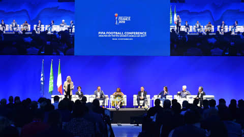 MILAN, ITALY - SEPTEMBER 22: A general view during the FIFA Football Conference - Analysis on the 2019 FIFA Women's World Cup at Palazzo Del Ghiaccio on September 22, 2019 in Milan, Italy. (Photo by Tullio Puglia - FIFA/FIFA via Getty Images)