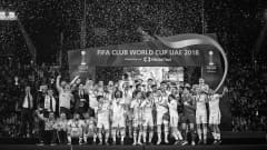 Real Madrid lift the trophy after the FIFA World Club Cup final between Al Ain and Real Madrid on December 22, 2018 in Abu Dhabi, United Arab Emirates. (Photo by Michael Regan - FIFA/FIFA via Getty Images)