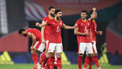 DOHA, QATAR - FEBRUARY 11: Ayman Ashraf of Al Ahly SC and teammates celebrate in the penalty shootout during the FIFA Club World Cup Qatar 2020 3rd Place Play off match between Al Ahly and SE Palmeiras at the Education City Stadium on February 11, 2021 in Doha, Qatar. (Photo by David Ramos - FIFA/FIFA via Getty Images)